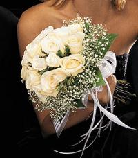 Hand-Tied White Rose Nosegay